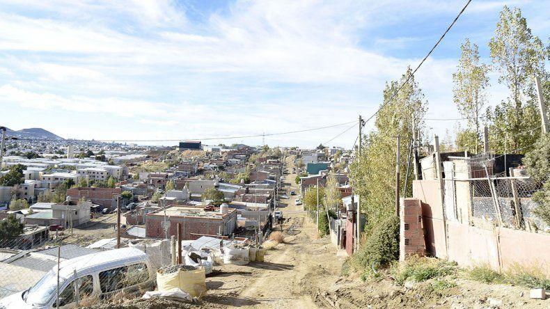 El sector donde se encuentra la vivienda de Nahueltruz