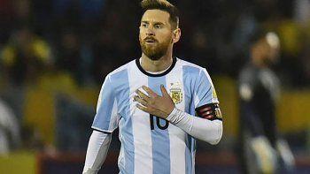 Lionel Messi, capitán de la selección argentina de fútbol que a partir de junio jugará el Mundial de Rusia.