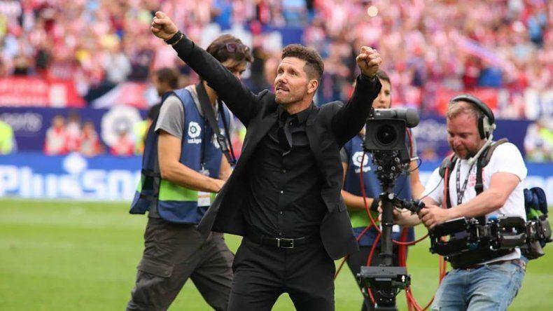 Diego Simeone buscará esta tarde un nuevo título con el Atlético de Madrid.