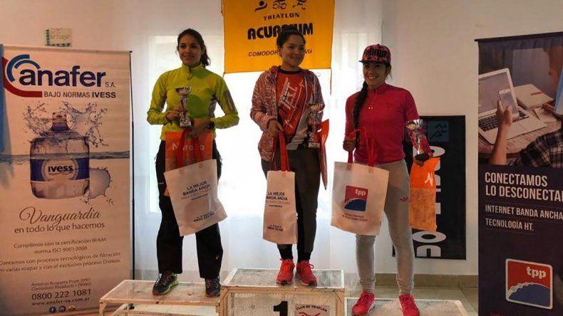 Nadia Santana y Marcos Hernández  ganaron el Duatlón Desafío Acuarium