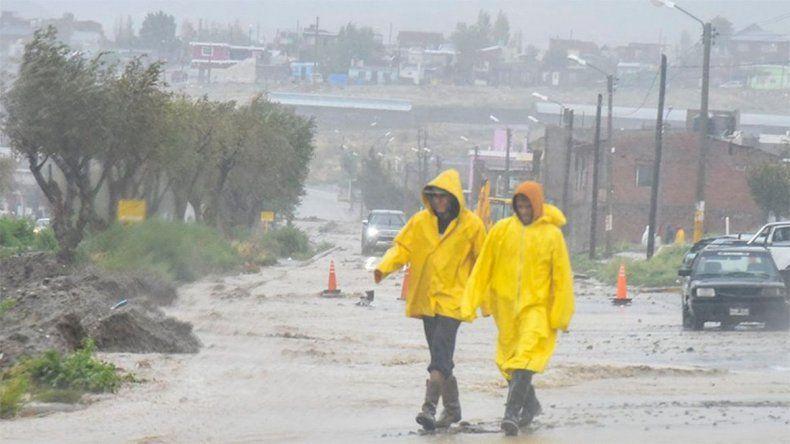Nuevo alerta por lluvias para la costa de Chubut