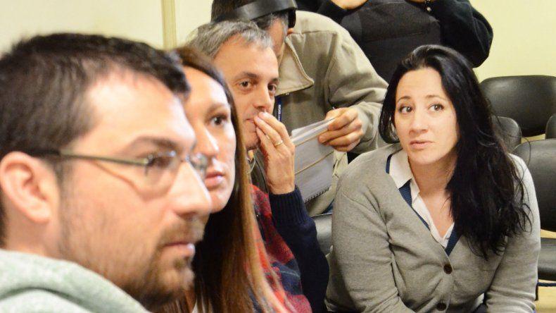 Nadia Kesen durante el juicio en el que había sido condenada a siete años de prisión.