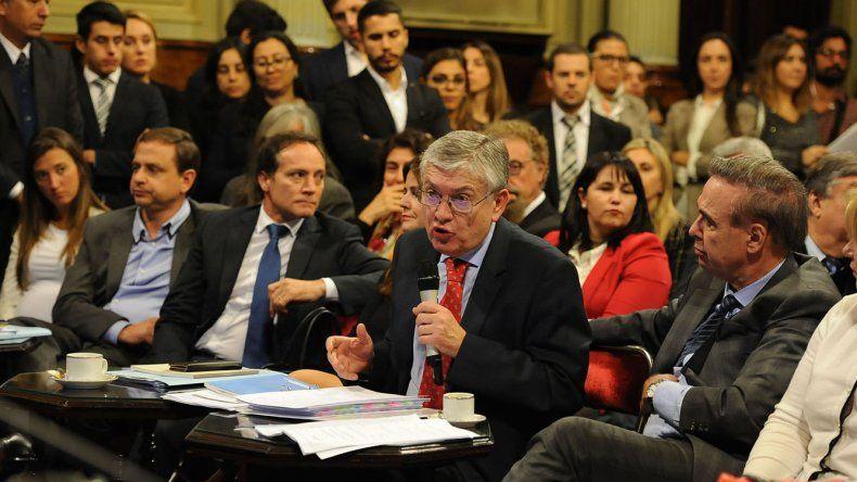En el plenario de comisiones de ayer