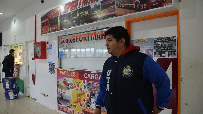 El delegado ante la UTA en Caleta Olivia