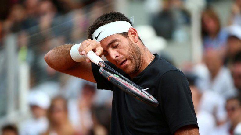 Juan Martín Del Potro tuvo que abandonar el Masters 1000 de Roma.