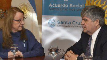 El presidente de YPF, Miguel Angel Gutiérrez, informó a la gobernadora Alicia Kirchner sobre el parque eólico que la compañía proyecta construir en Cañadón León.