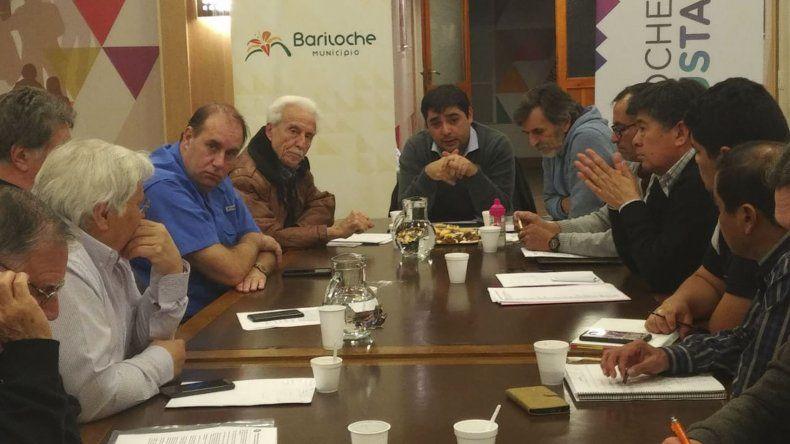 Aspecto de la reunión que dirigentes de las ligas patagónicas de fútbol mantuvieron el último fin de semana en San Carlos de Bariloche.