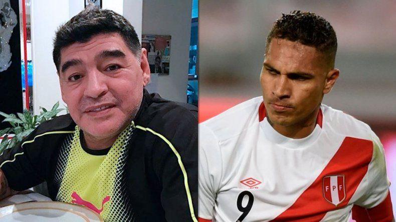 El emotivo mensaje de Maradona para Paolo Guerrero