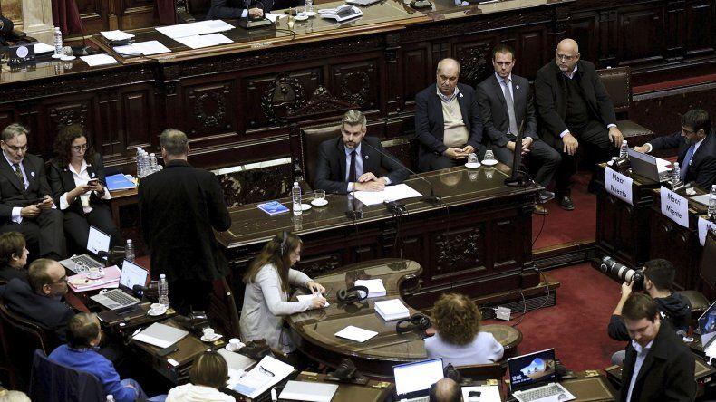 Marcos Peña Braun durante su exposición de ayer en la Cámara de Diputados.