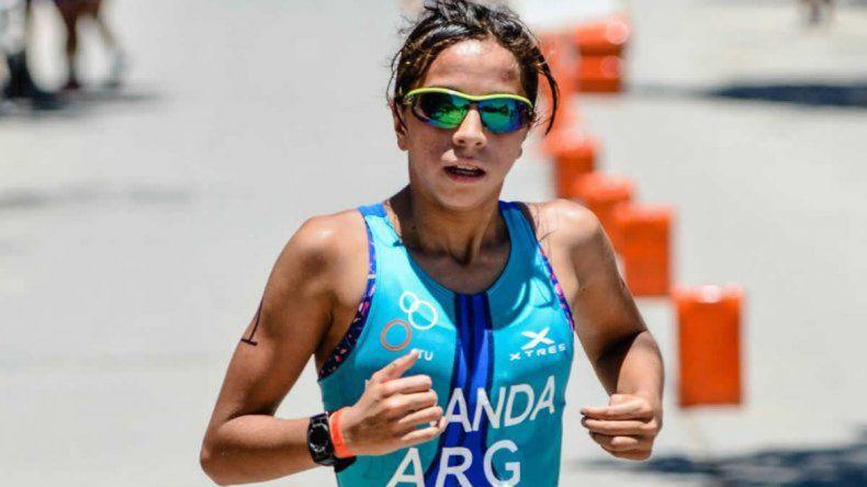 La triatleta comodorense Moira Miranda será una de las representantes chubutenses en los Juegos Odesur.