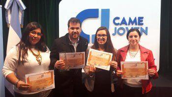 La representación de Chubut en la final del concurso Joven Empresario Argentino.