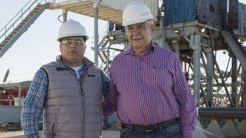 En su visita a una de las áreas gasíferas y petroleras más importantes del país, Claudio Vidal tuvo como anfitrión a Guillermo Pereyra.