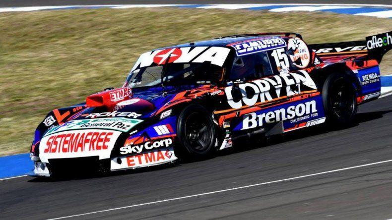El Ford de Matías Rossi que ayer lideró la clasificación del Turismo Carretera.