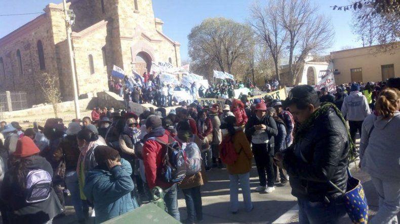 En La Quiaca se produjo uno de los puntos de concentración para dar inicio a la marcha federal contra el ajuste.