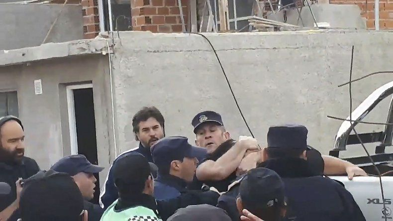 Cristian Sartor en acción. A la Fiscalía le dijeron que lo habían trasladado a Las Plumas