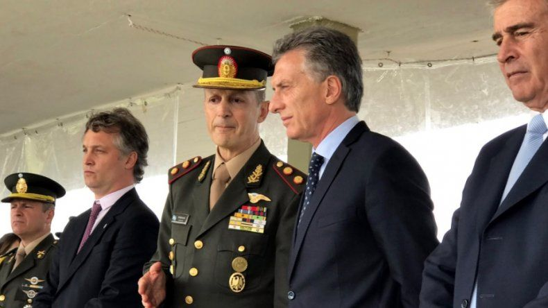 Mauricio Macri ayer participó del acto por el 208º aniversario del Ejército.