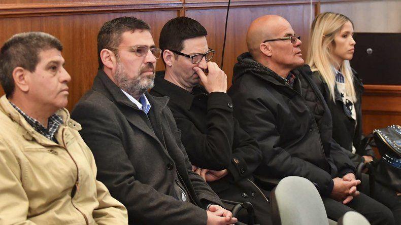 Los imputados durante la audiencia judicial que se desarrolló ayer.