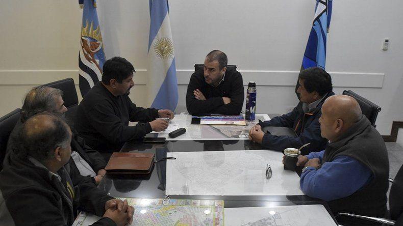 La reunión con el intendente Facundo Prades.