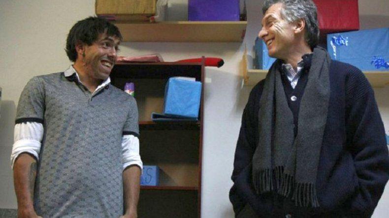 Macri inaugura un campo de golf con Tevez