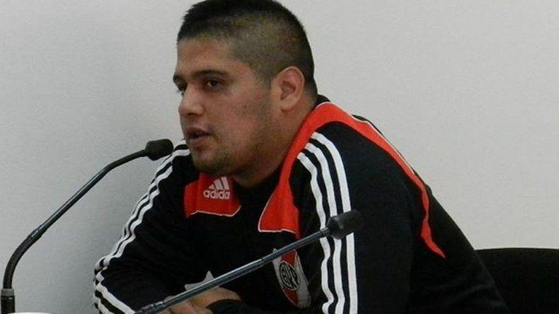 Gastón León en una de las audiencias de control de detención que debió´atravesar con delitos contra la propiedad-