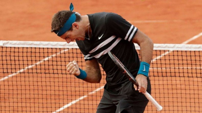 Del Potro ya está en cuartos de Roland Garros