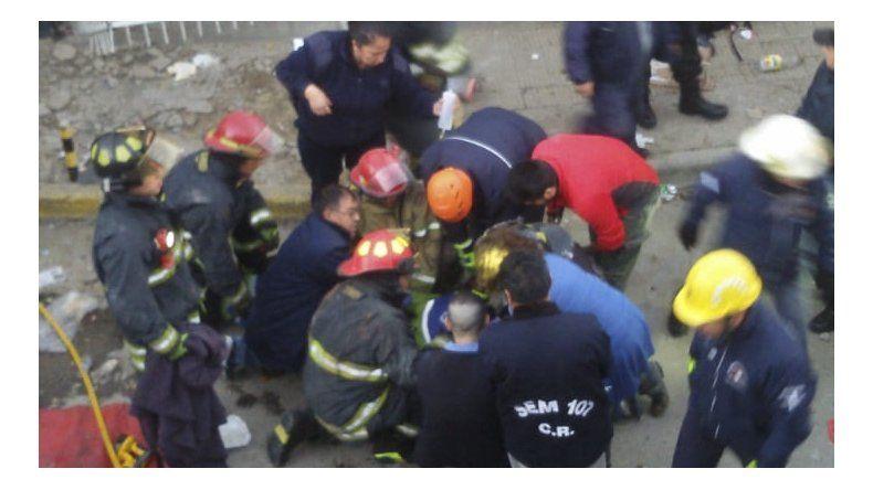El incidente se produjo ayer a la mañana en Rivadavia y 13 de Diciembre.