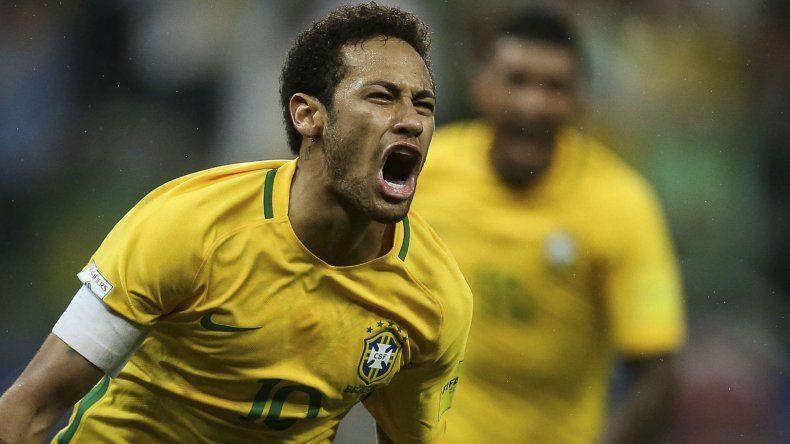 Neymar es la estrella de Brasil