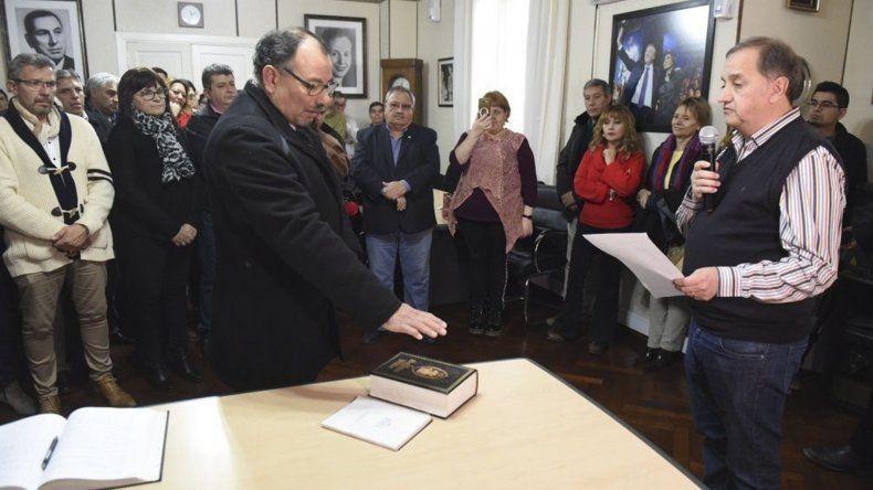 Rubén Sartori asumió ayer como secretario de Servicios a la Comunidad de la Municipalidad de Comodoro Rivadavia.