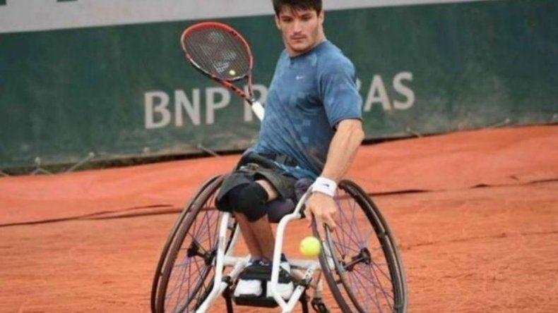 El cordobés Gusti Fernández perdió la final de tenis adaptado de Roland Garros