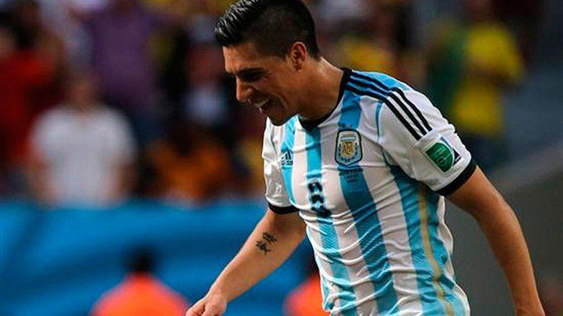 El volante de River Enzo Pérez jugó tres partidos con la Selección en el Mundial de Brasil