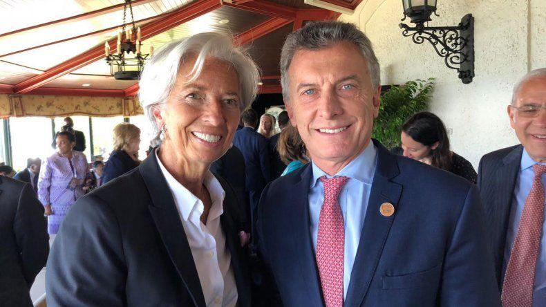 Christine Lagarde se reunió con Mauricio Macri durante la Cumbre del G-7 en Canadá.