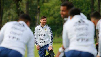 la seleccion argentina entrena a puertas abiertas