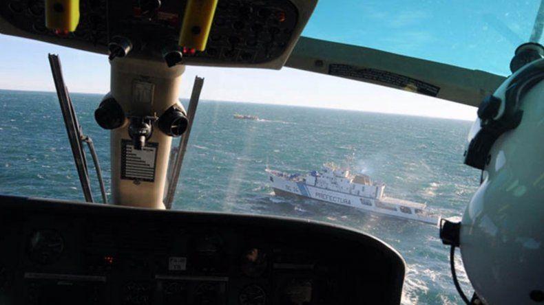 La tarea de los helicópteros durante el rastrillaje de ayer.