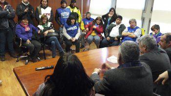 Parte de los movilizados se reunió con diputados del Frente Para la Victoria.