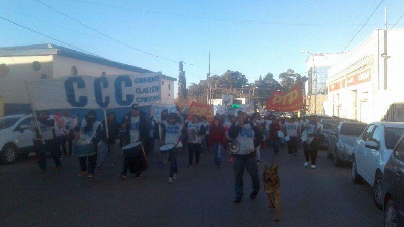 Una concentración de estatales bloqueó el acceso norte al centro