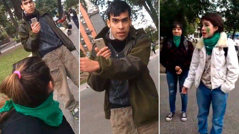 Atacó a jóvenes que vestían pañuelo verde: si somos iguales las puedo cagar a golpes