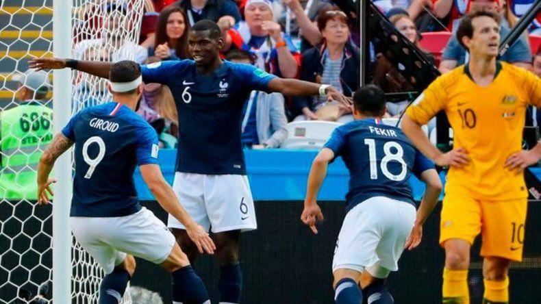Francia venció a Australia en un partido en donde la figura fue la tecnología