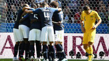 Francia ganó en un partido donde el nivel de juego no fue bueno.