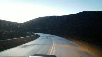 rutas transitables con precaucion en chubut y santa cruz
