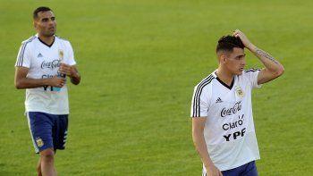 Gabriel Mercado y Cristian Pavón serían titulares en el partido del jueves contra Croacia.