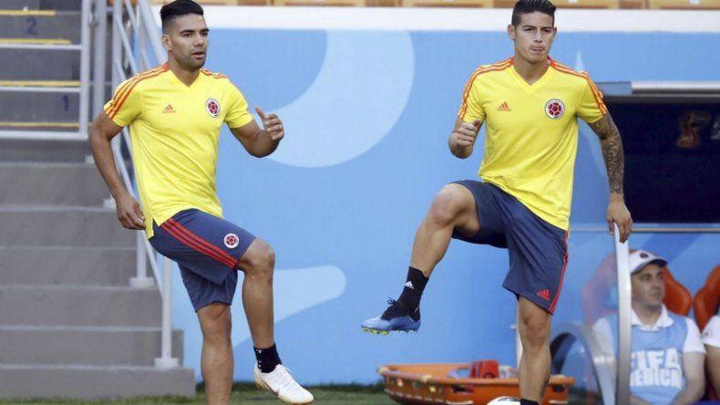 Radamel Falcao debutará en los mundiales frente a Japón. Mientras que James Rodríguez esta duda por una lesión.