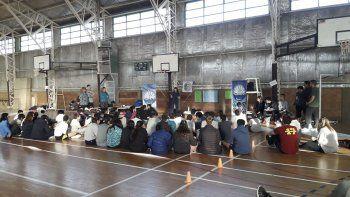 Además de las pruebas, los estudiantes contaron sobre una charla de nutrición.