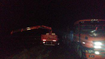 La banda fue sorprendida cuando robaba caños de gasoducto, pertenecientes a la empresa Transportadora Gas del Sur.