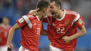 Rusia festejó un nuevo triunfo, esta vez ante Egipto, y lleva convertidos ocho goles en dos fechas, con apenas uno en contra.