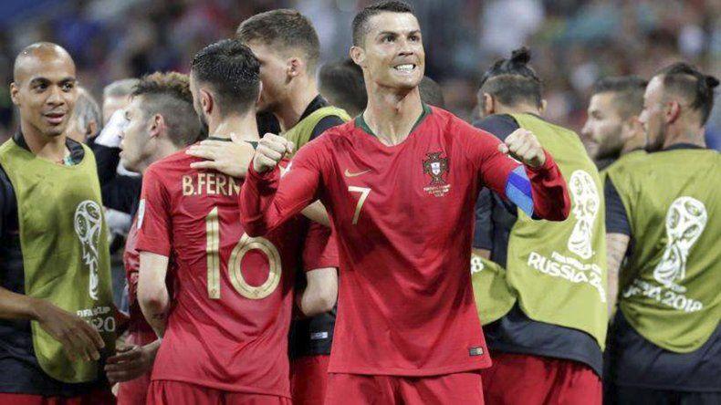 Cristiano Ronaldo salvó a Portugal con tres goles ante España
