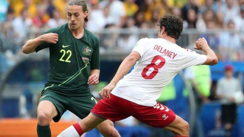 Dinamarca y Australia empataron 1-1 en Samara