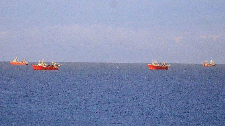 Parte de los pesqueros de altura pertenecientes a varias empresas armadoras