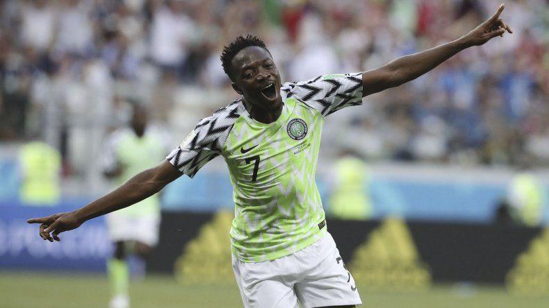 El delantero Ahmed Musa fue el goleador y la figura del encuentro.