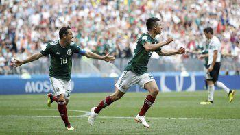 Con un gol de Hirving Lozano, México puso de rodillas al último campeón.