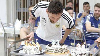 En Rusia Messi tuvo un cumpleaños triste